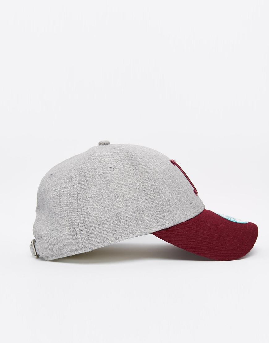 buy popular 3448b 2b578 KTZ 9forty Adjustable Boston Red Sox Cap in Gray for Men - Lyst