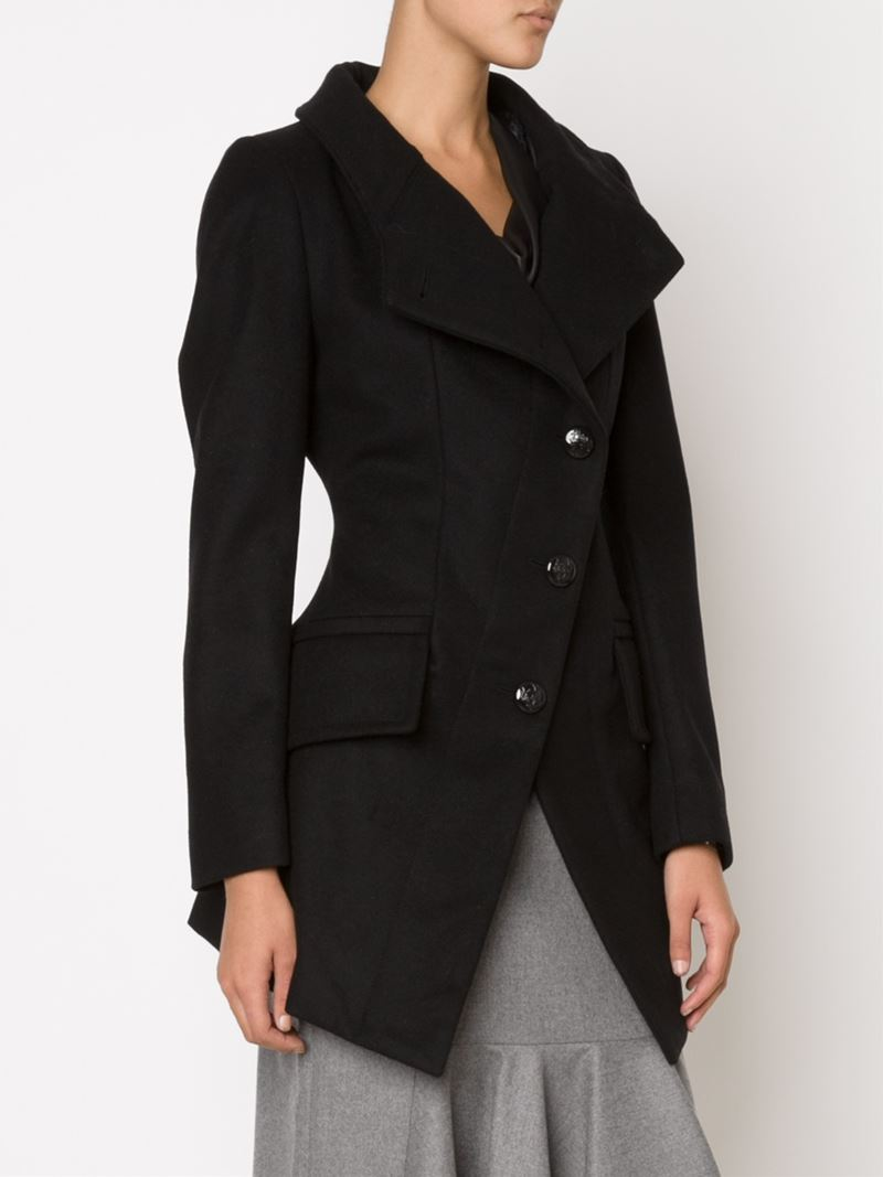 Lyst - Vivienne Westwood Anglomania  state  Coat in Black 88d1bfb1d