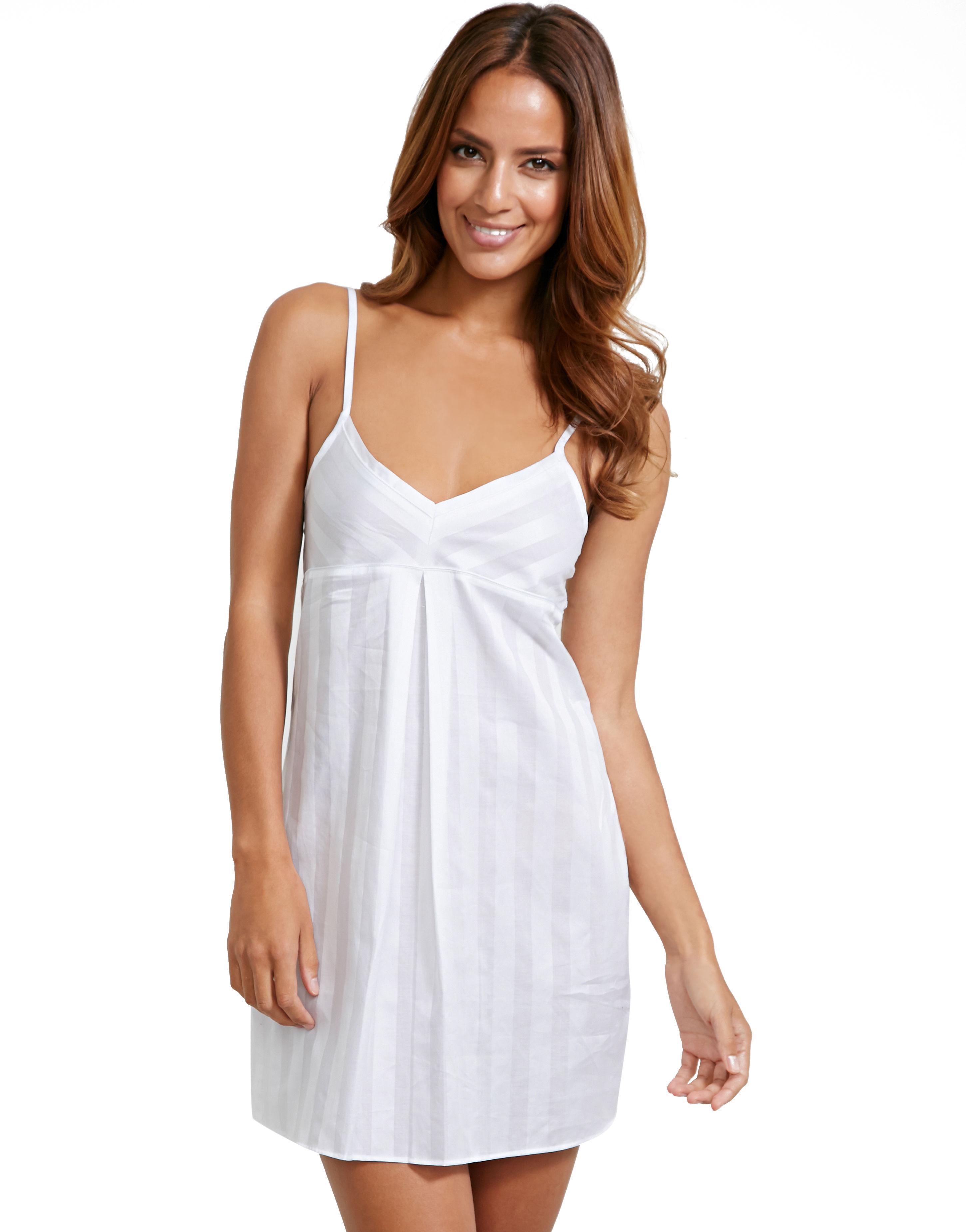 bf98b1f5d6 Bodas Cotton Nightwear Short Chemise in White - Lyst