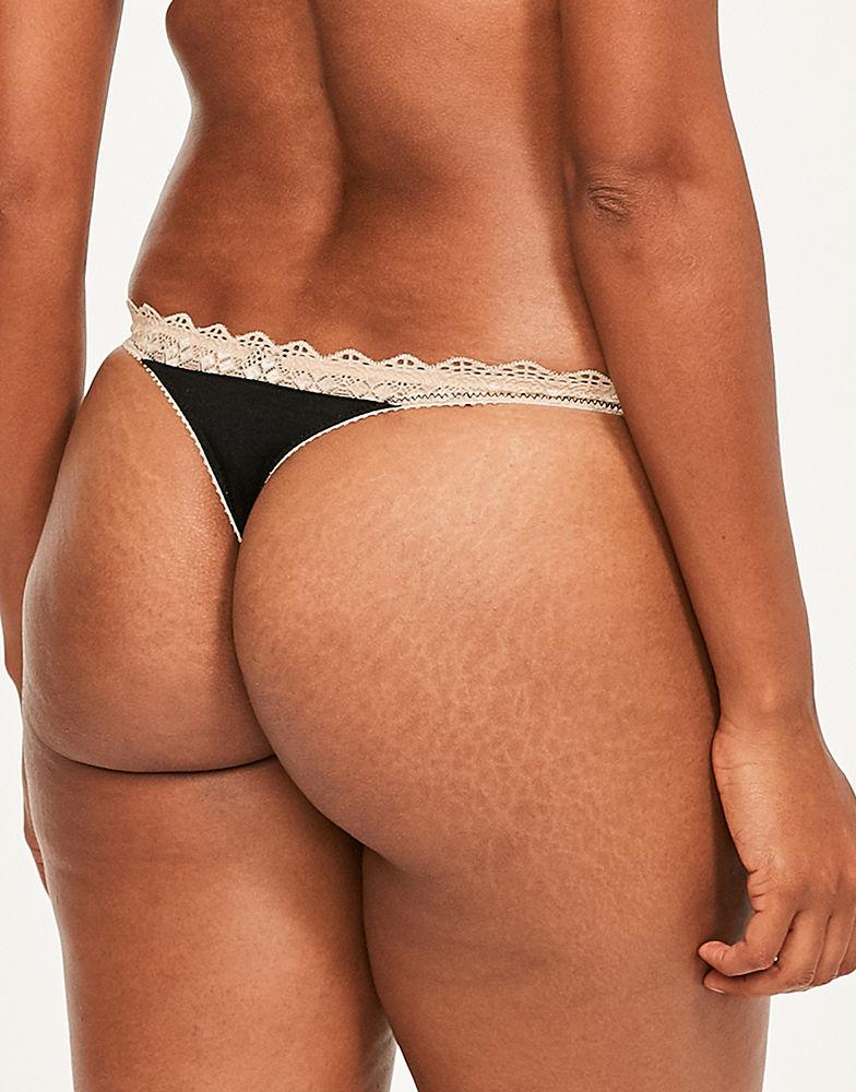 e6c791b5fb Heidi Klum Geometric Lace Thong in Black - Lyst