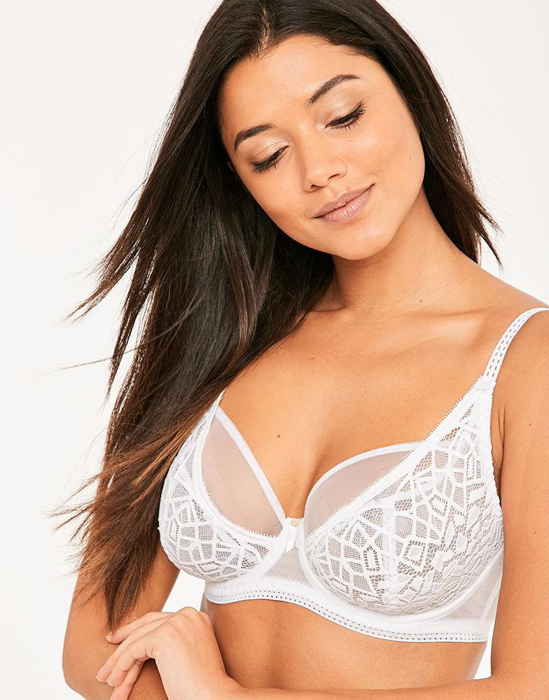 e8f1594006 Freya - White Soiree Lace High Apex Bra - Lyst. View fullscreen