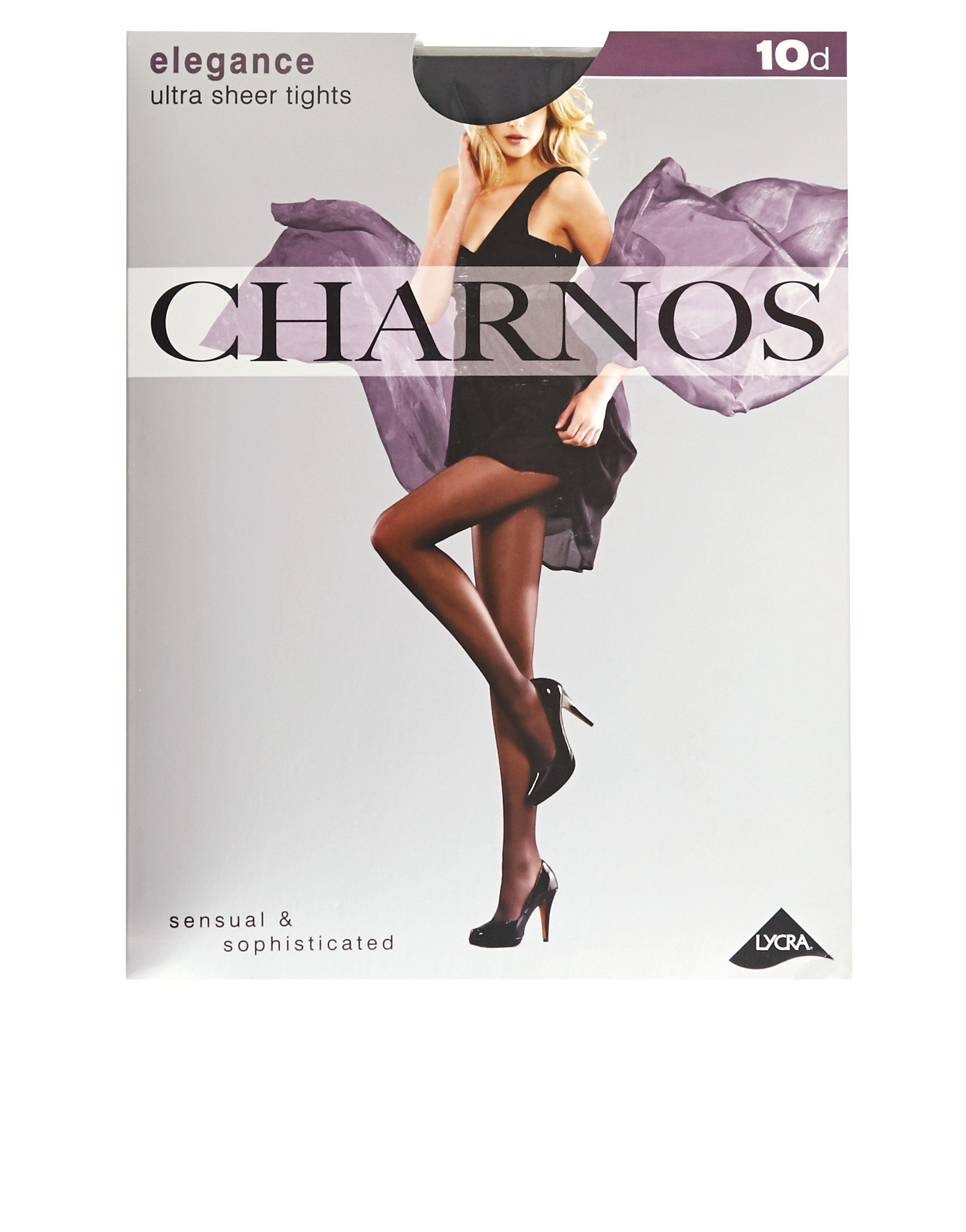 7f746dbcc50 Charnos 10 Denier Elegance Ultra Sheer Tights in Black - Lyst