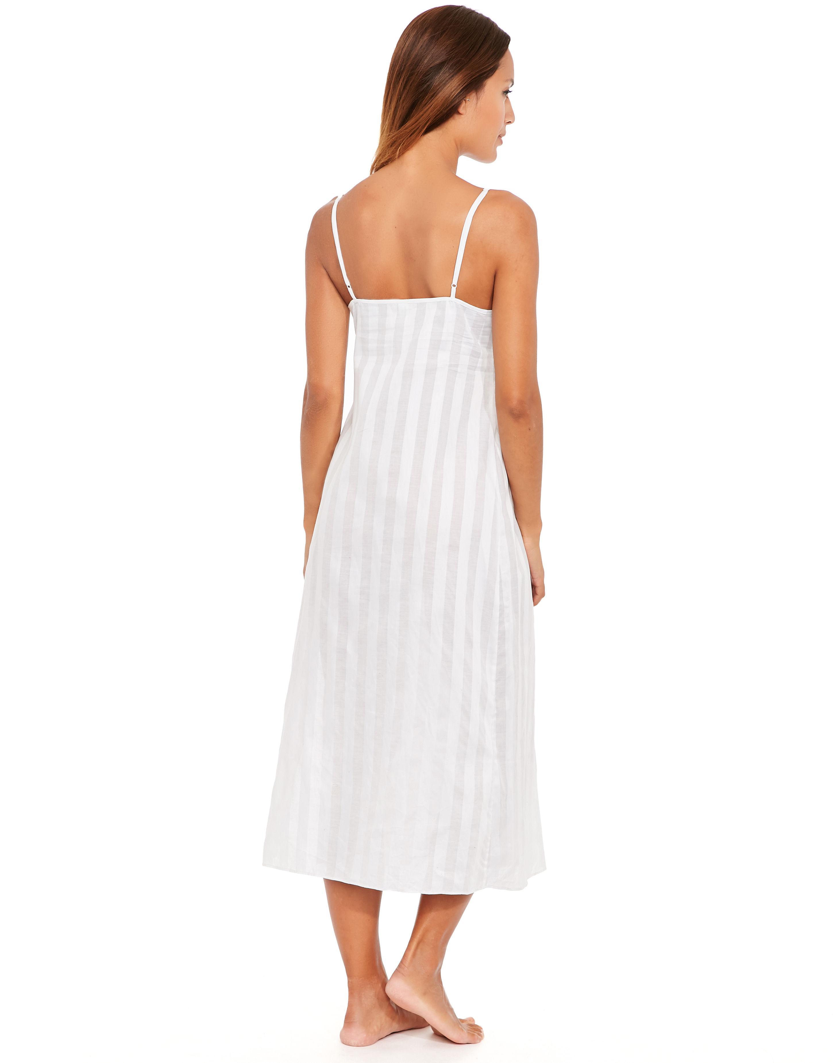 Bodas Cotton Nightwear Long Chemise in White - Lyst 64a8f2102