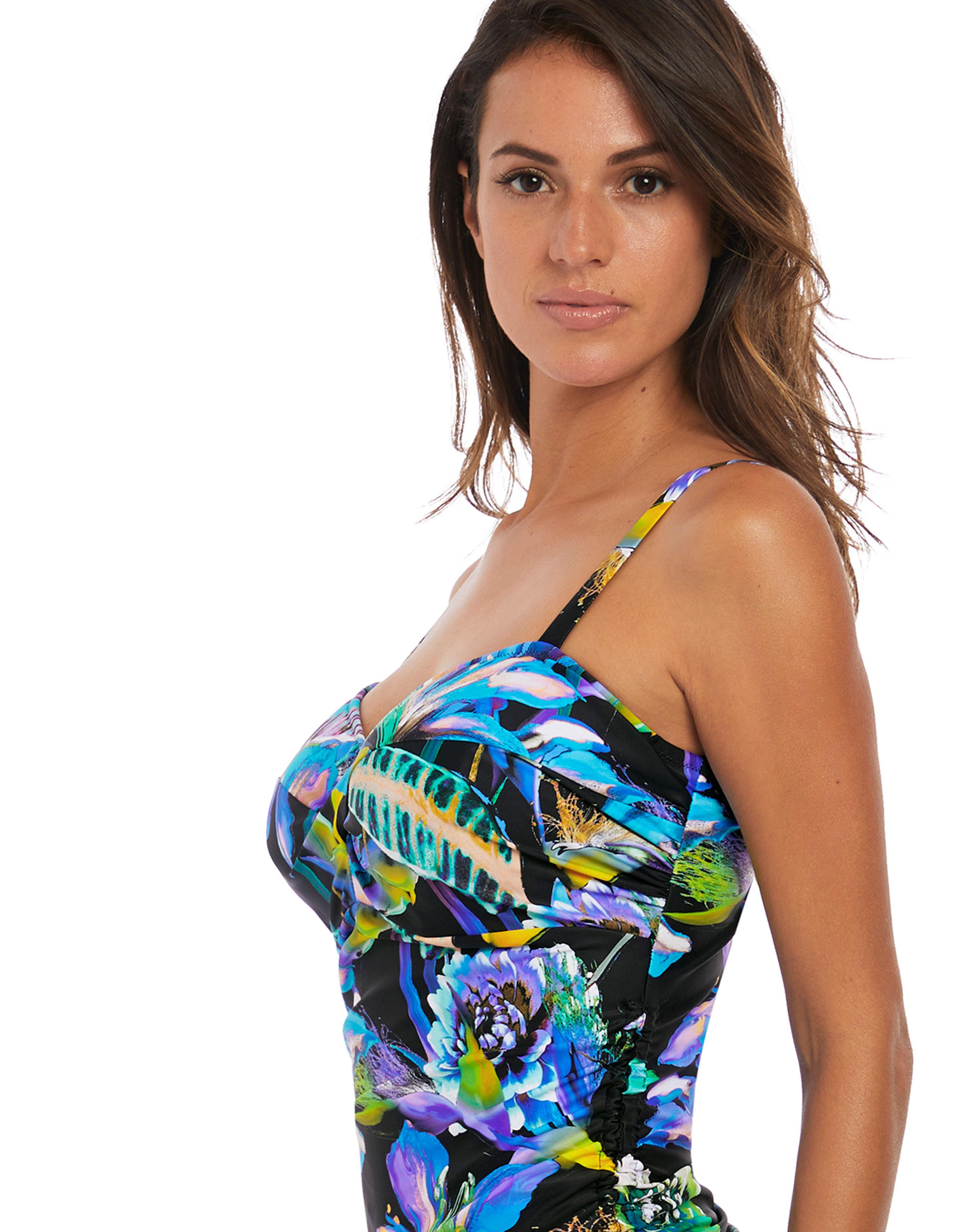 6c0c0b40bbcbc ... Underwired Twist Front Tankini Top - Lyst. Visit Figleaves. Tap to  visit site