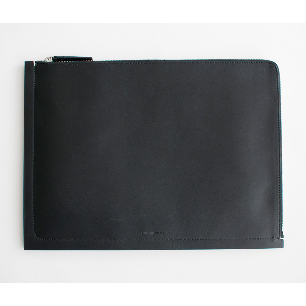 Building block 13 macbook sleeve in black lyst for Housse macbook air 13 paul smith