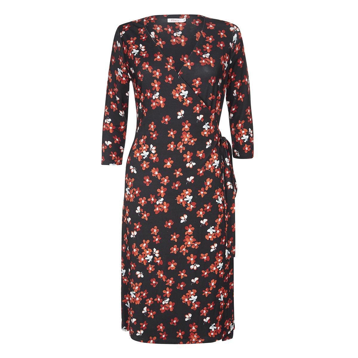 Greenlaw Red Daisy Wrap Dress Finery TFwe12PKS