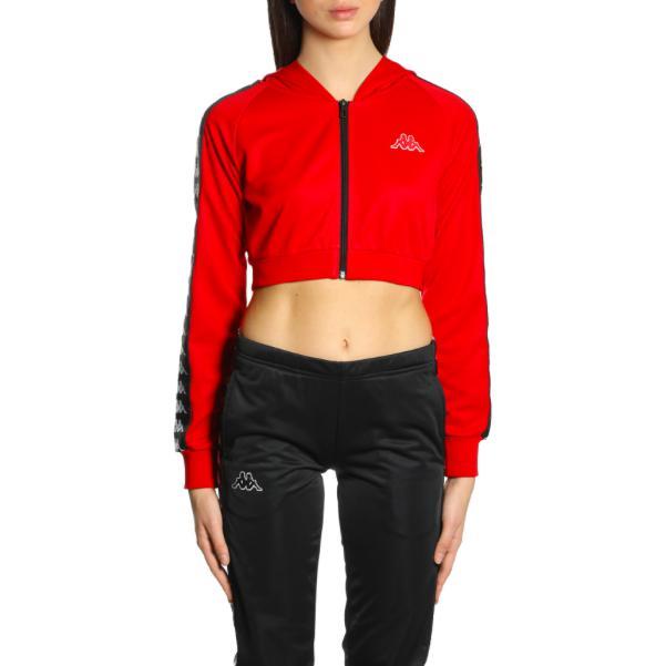 7bda8646d39 Kappa Women 222 Banda Arakli Crop Hooded Jacket, Red/ Black in Red ...
