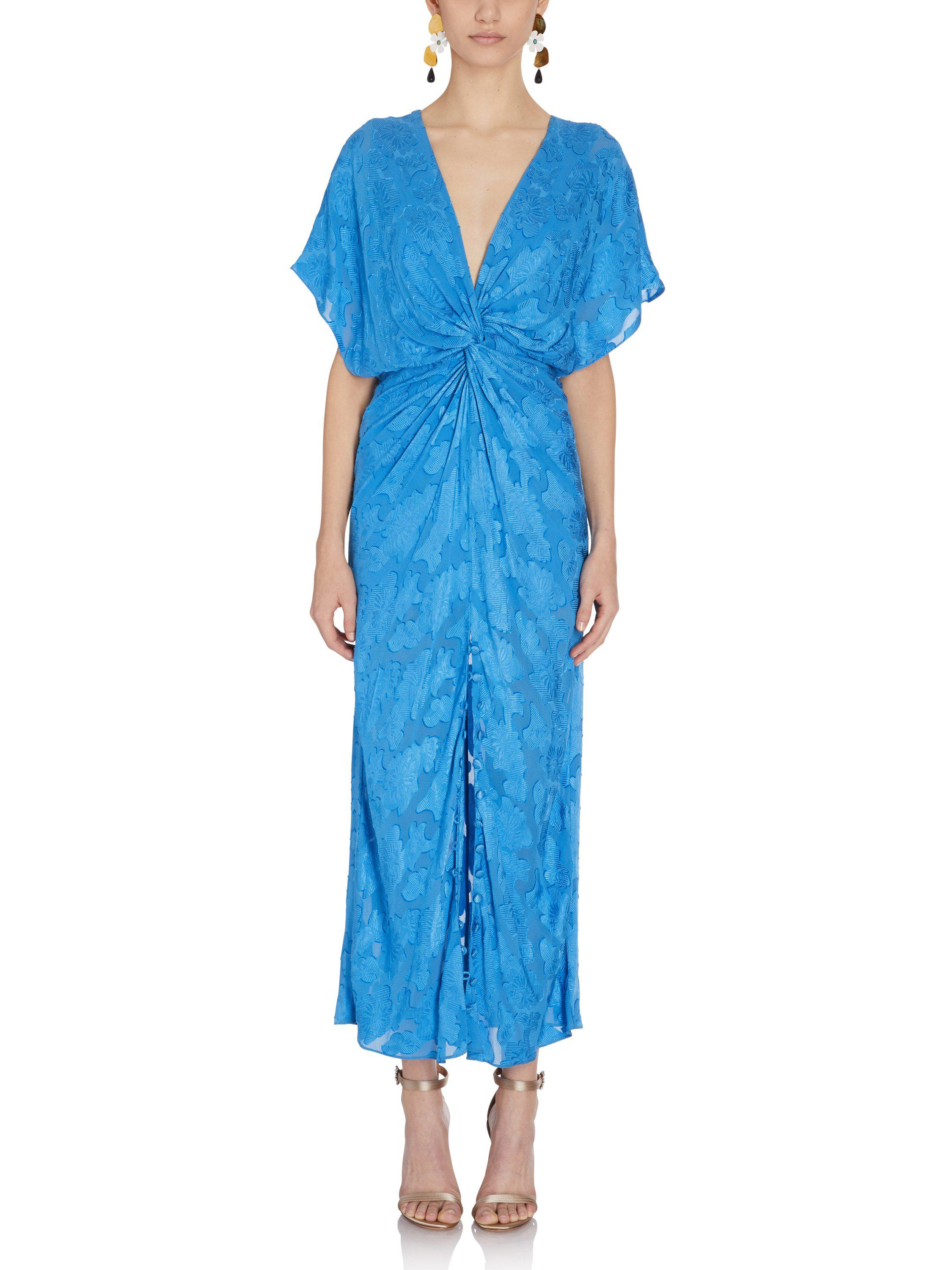 2018 New Cheap Price Jackie knot front dress - Blue Prabal Gurung Discount Sale Free Shipping Latest Collections Stockist Online Shopping Online Sale Online 29YEpprDh