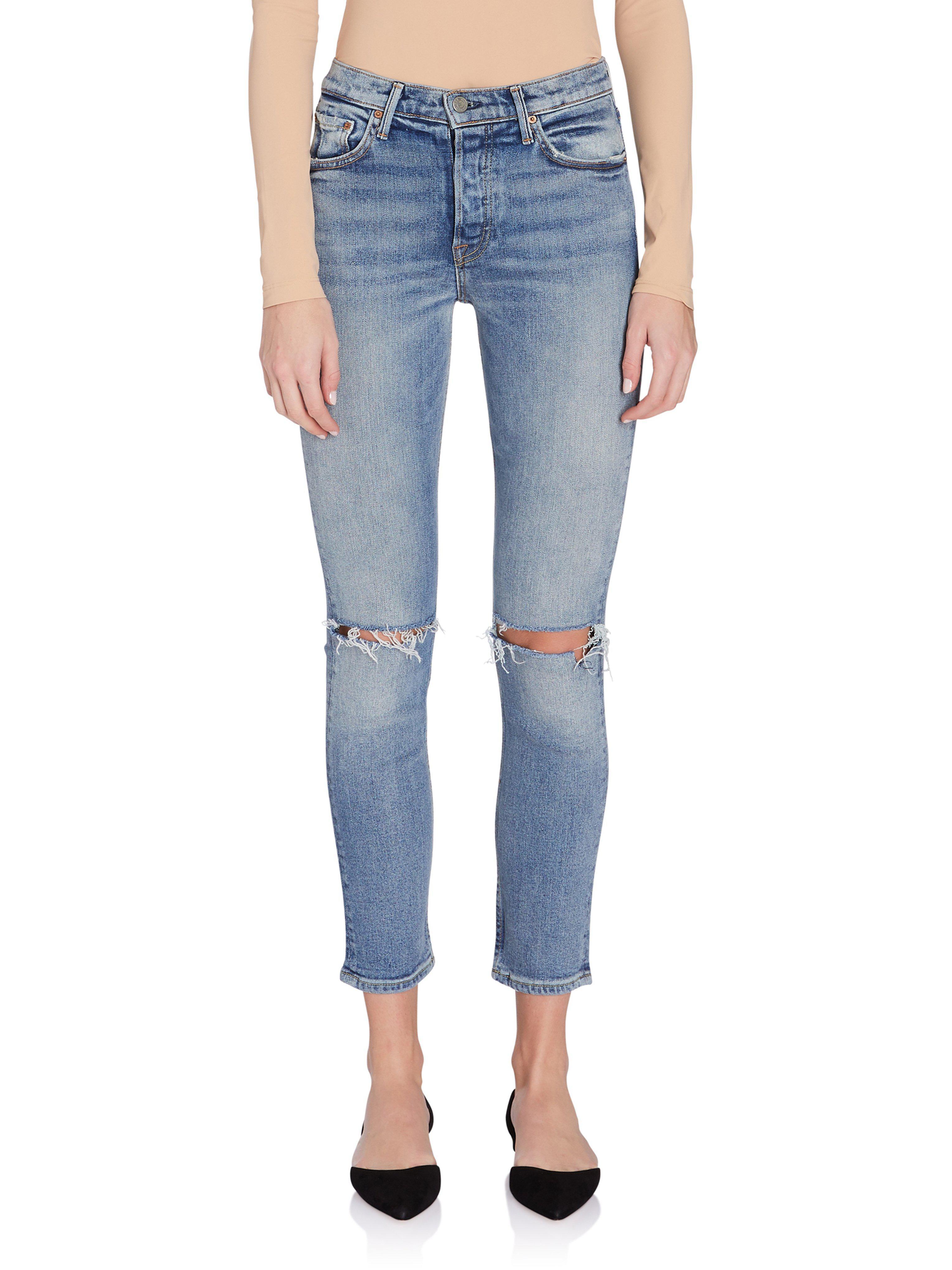 f3ce29ea42 Lyst - GRLFRND Karolina High Rise Skinny Jean in Blue