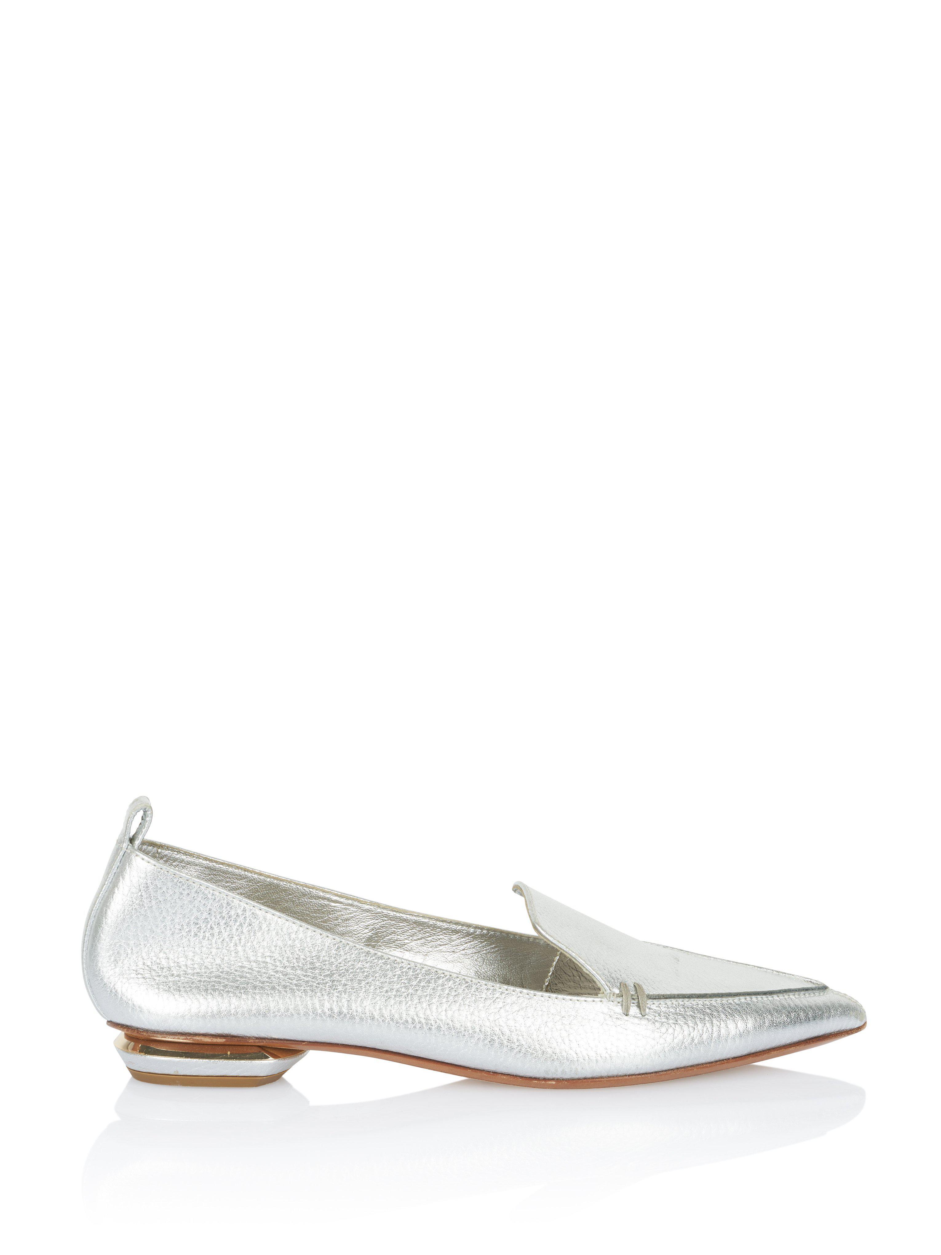e246052bb3d Lyst - Nicholas Kirkwood Beya Loafer In Silver Leather in Metallic