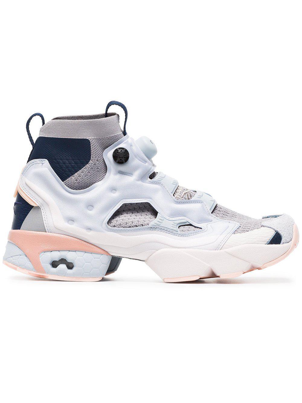 48c9da1ff5d7 Lyst - Reebok Instapump Fury Grey Ultraknit Sneakers By in Gray for Men