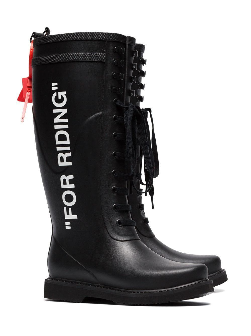 e2e42386ce Off-White c/o Virgil Abloh Riding Boots By in Black - Lyst