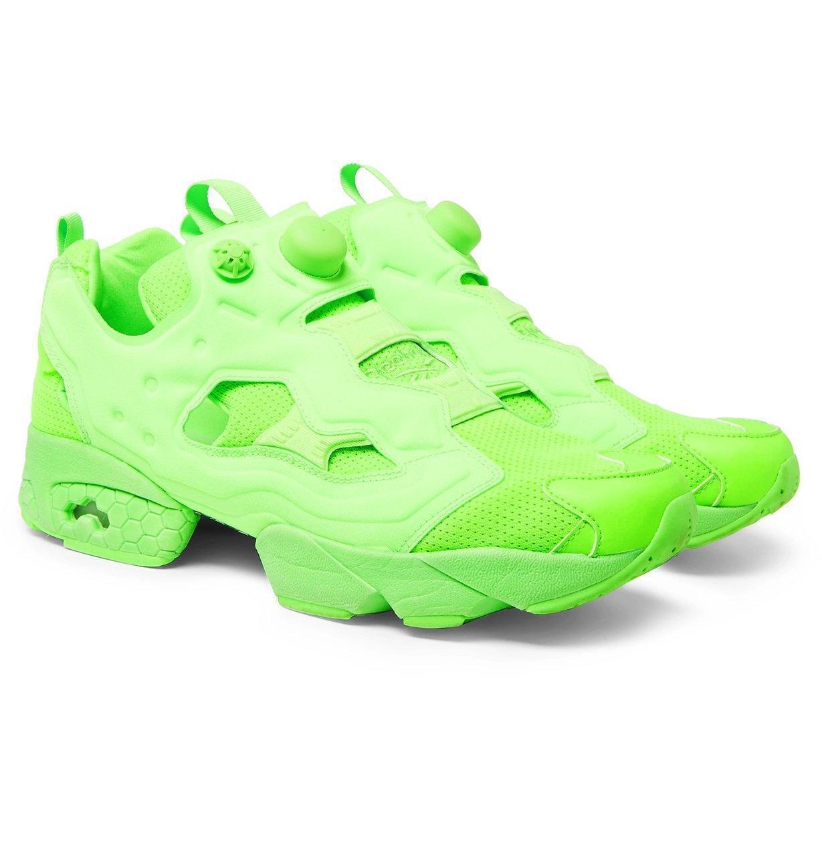7241351960b6d Vetements - Reebok Neon Green Instapump Fury Sneakers By - Lyst. View  fullscreen