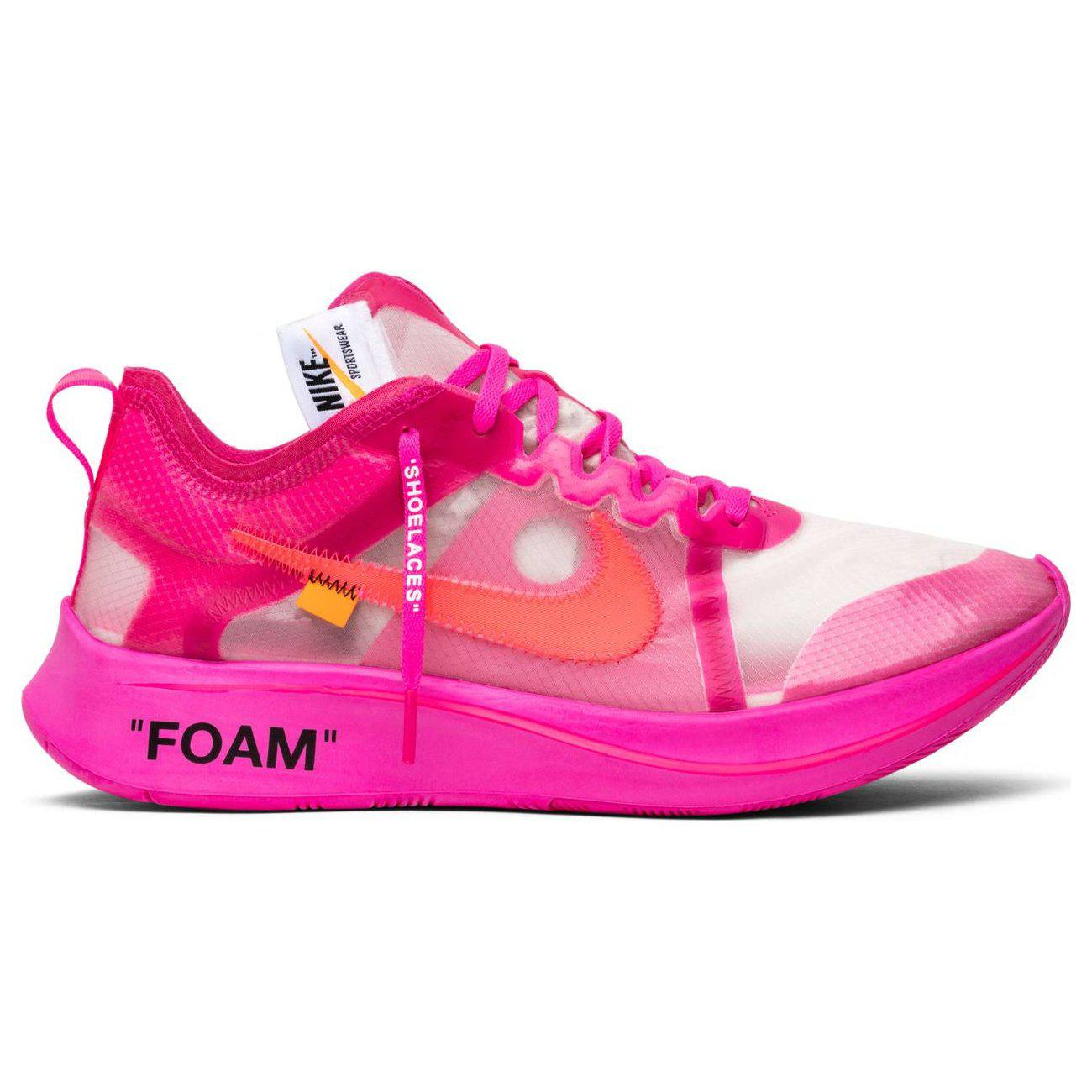 Off White C O Virgil Abloh Tulip Pink Nike Zoom Fly By In Pink Lyst