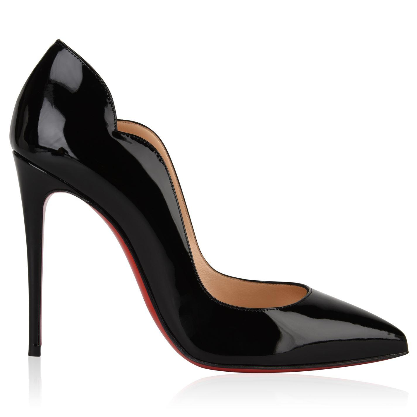 526c8ffc9d1 Lyst - Christian Louboutin Patent Hot Chick Heels in Black