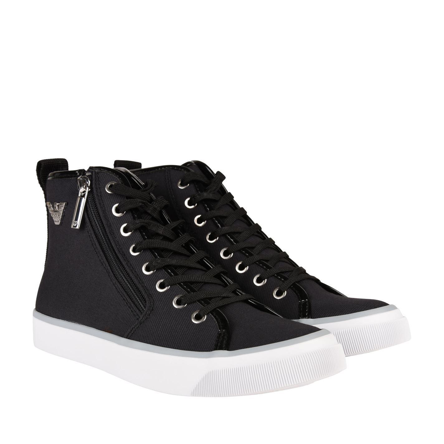 100% authentic 089a0 c9349 armani jeans venus high top trainers Lyst - Armani Jeans Venus High Top  Trainers in Black for Men
