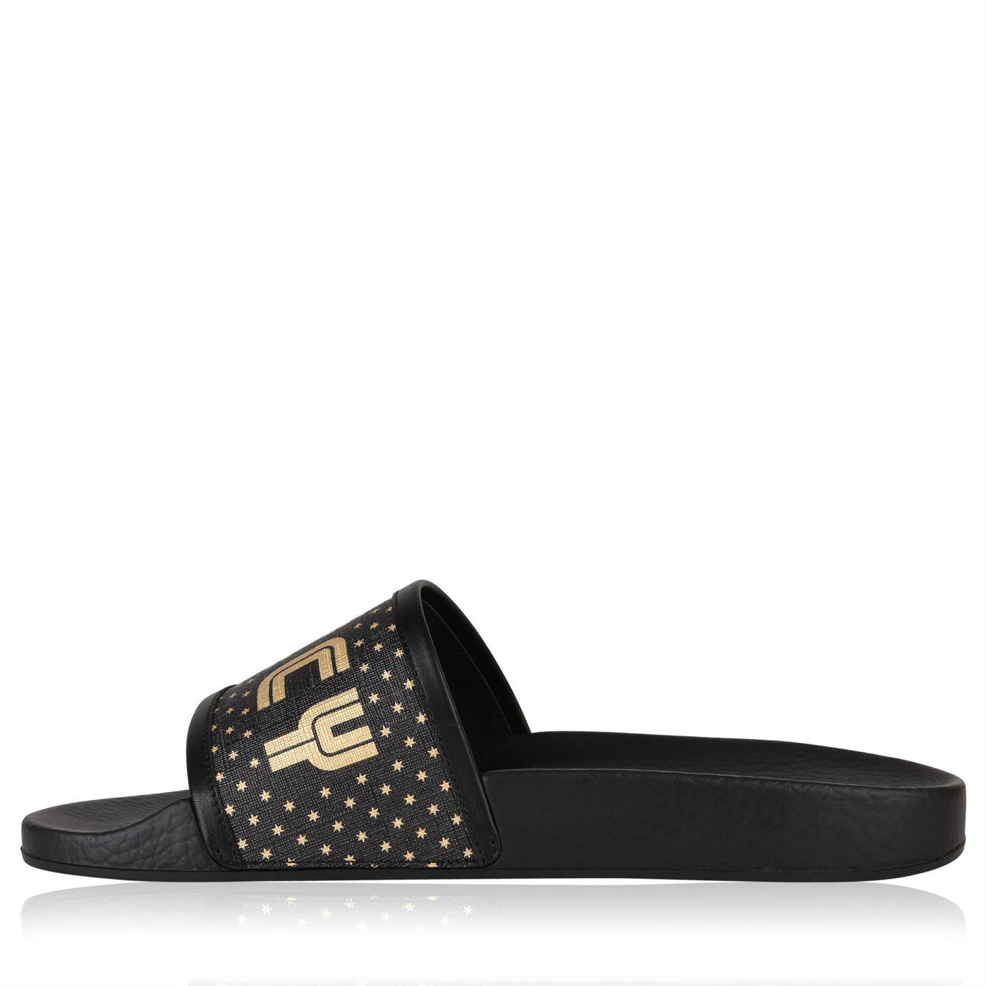 b9d311ad8f7011 Lyst - Gucci Guccy Sliders in Black for Men - Save 71%