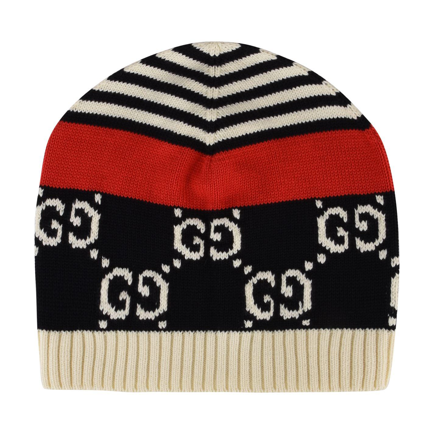 Gucci - Multicolor Gg Cotton Beanie Hat for Men - Lyst. View fullscreen 596c85553ab9