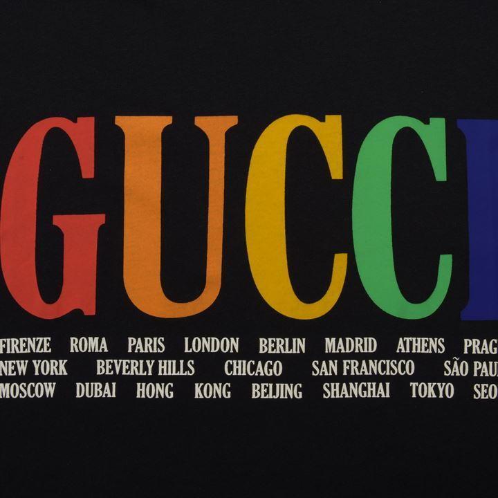 870d15052 Gucci - Black Rainbow Cities T Shirt for Men - Lyst. View fullscreen