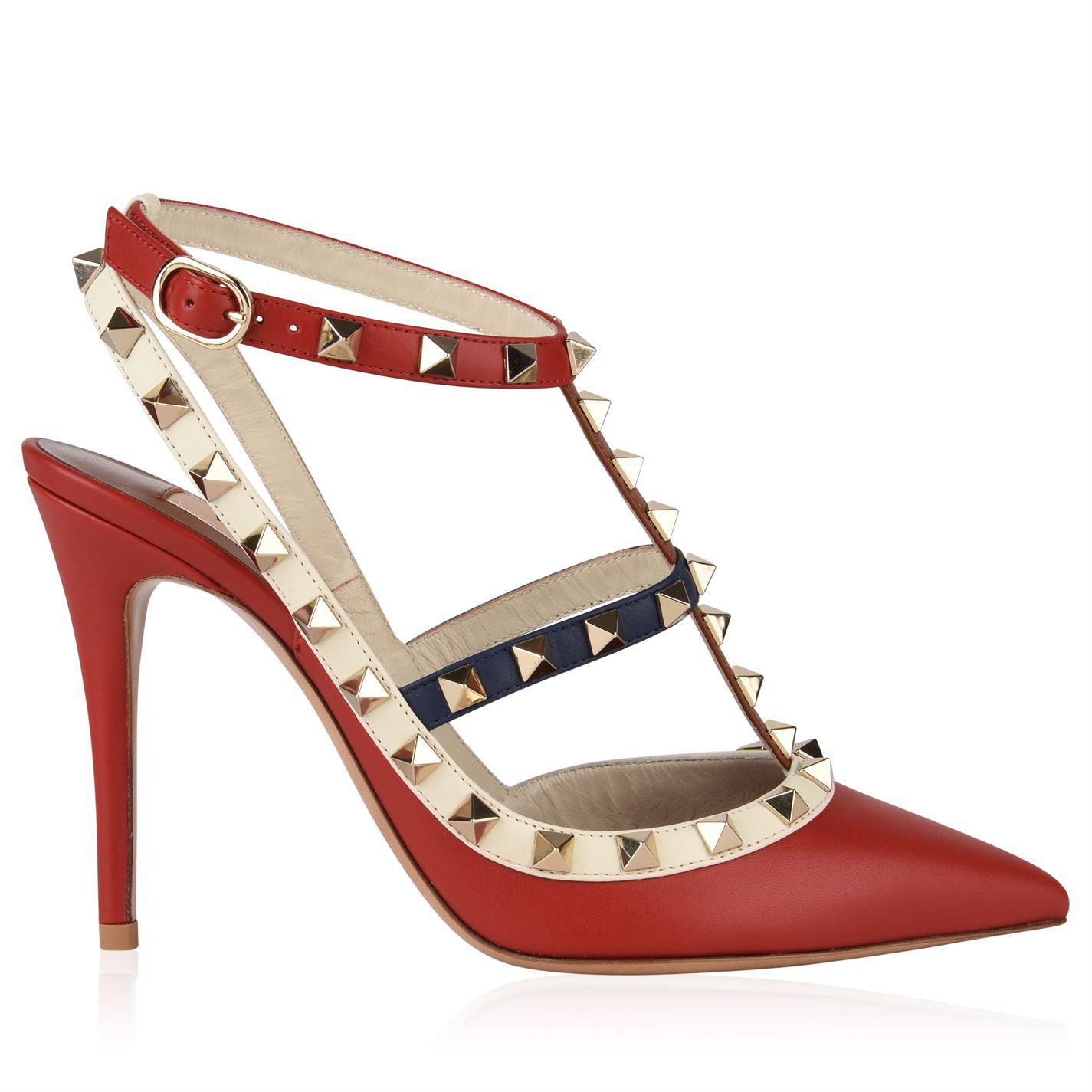 d12f3973e15 Valentino. Women s Rockstud 100 Ankle Strap Heels