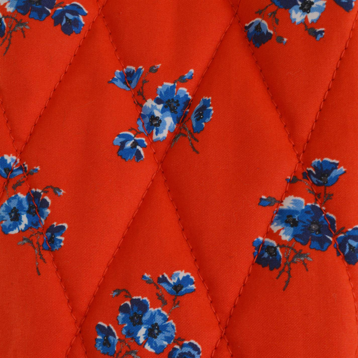 6eef6b6307 KENZO Quilted May Flowers Skirt in Red - Lyst