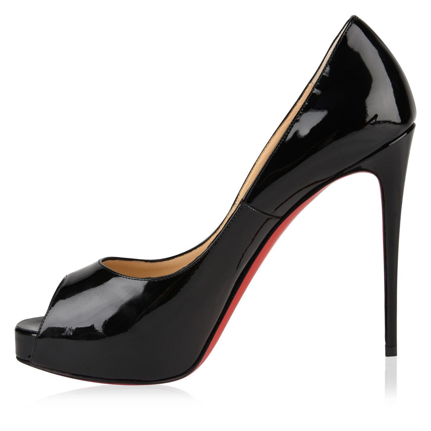 dba5b27fde4 Lyst - Christian Louboutin Very Prive Patent Heels in Black