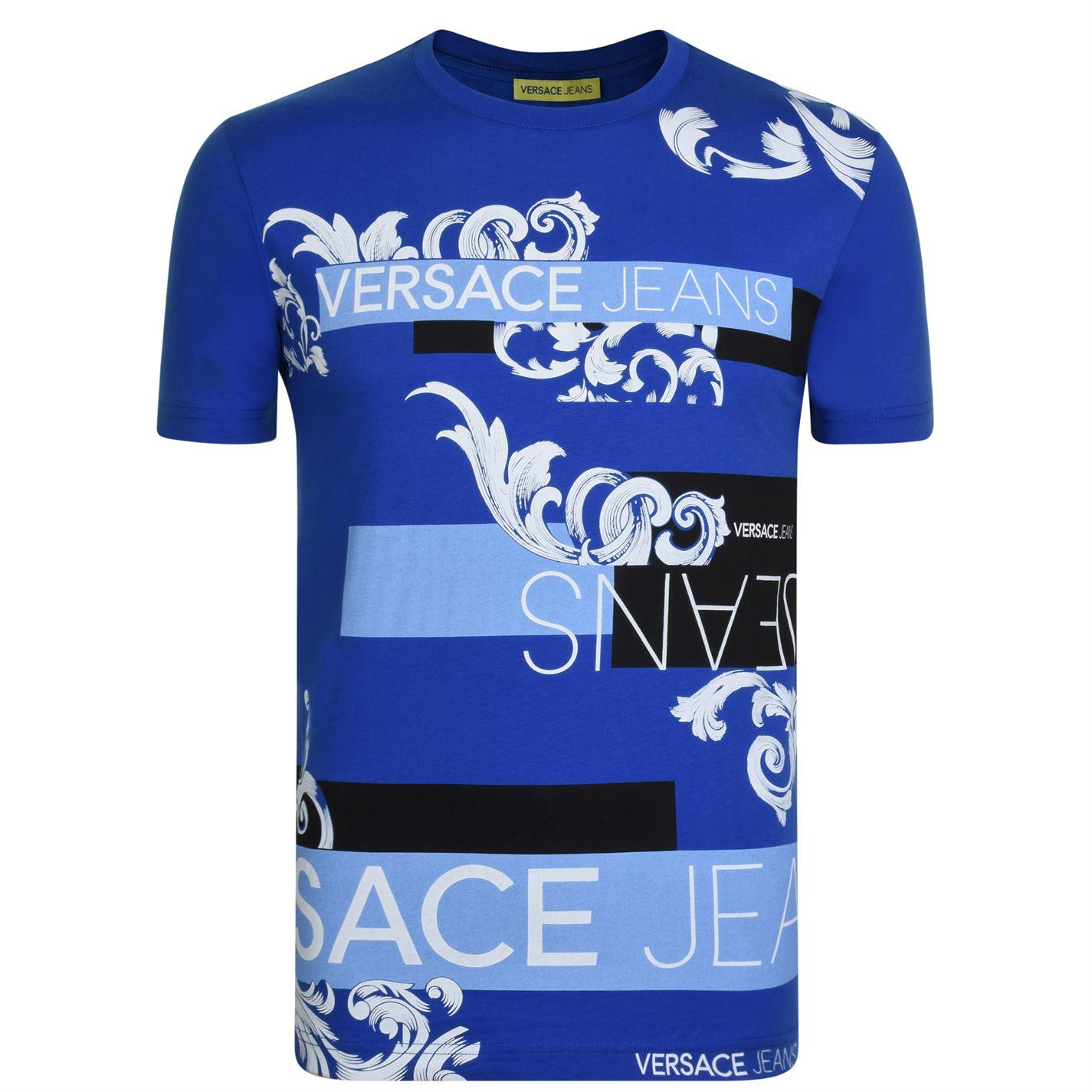5ce48956 Versace Jeans - Blue Baroque Print T Shirt for Men - Lyst. View fullscreen