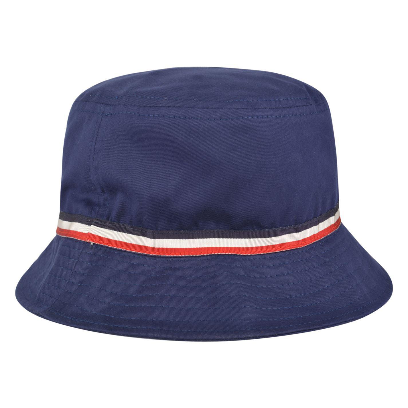 f89ab5eb73d4 Lyst - Moncler Stripe Trim Bucket Hat in Blue for Men