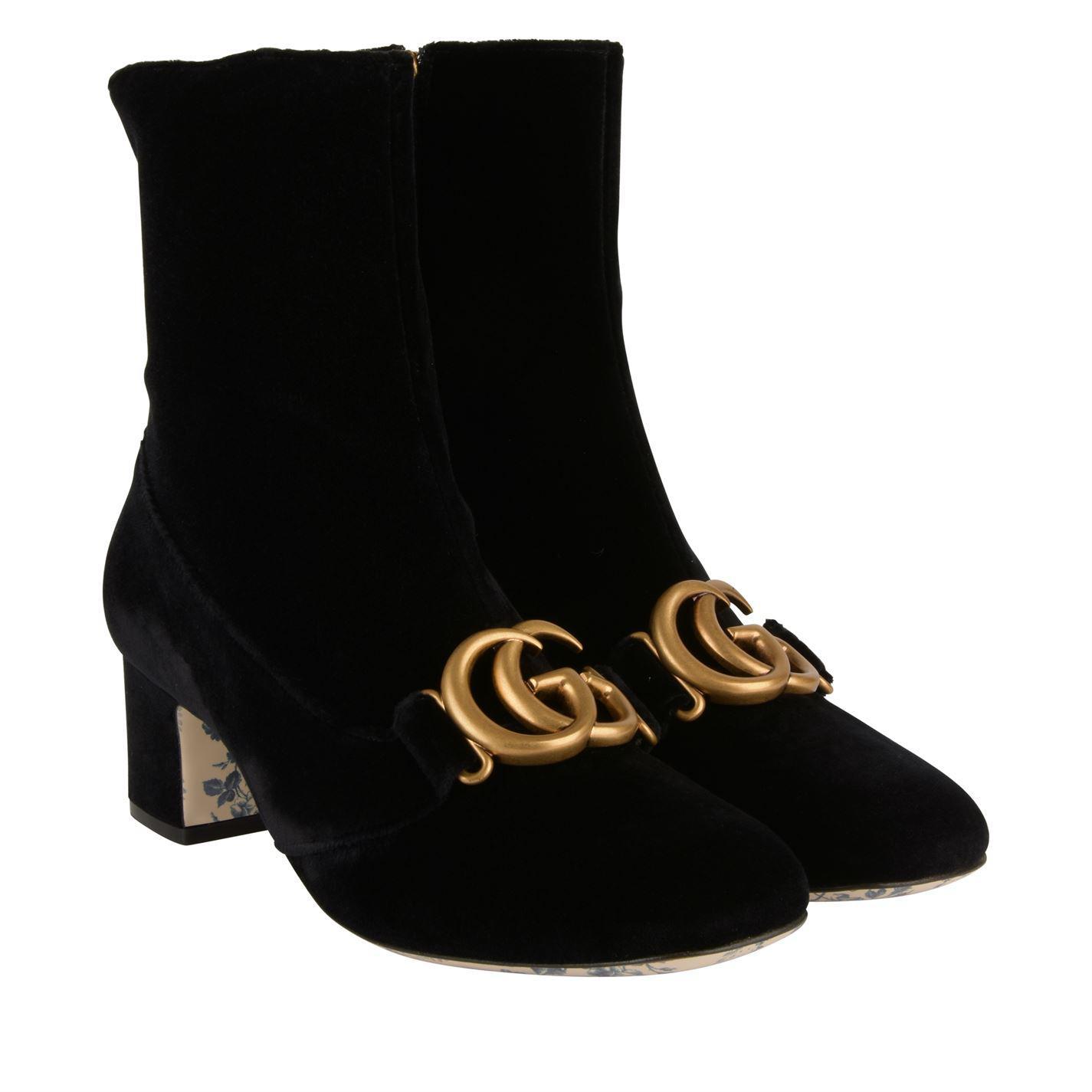 29b9f86dda9 Gucci - Black Victoire Gg Ankle Boots - Lyst. View fullscreen