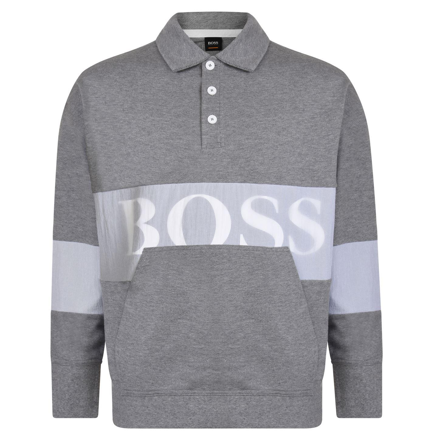 eee3b40be BOSS by Hugo Boss Wolton Long Sleeve Polo Shirt in Gray for Men - Lyst