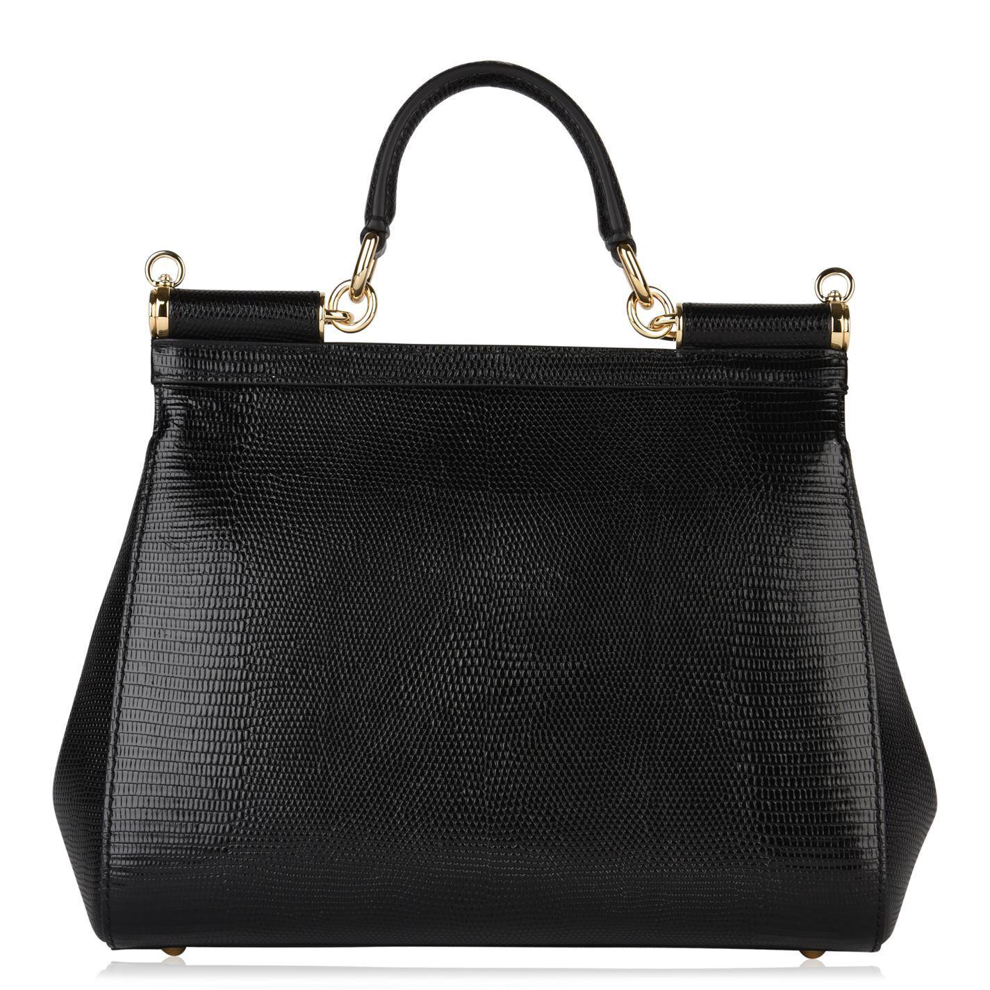 Dolce   Gabbana - Black Sicily Medium Bag - Lyst. View fullscreen 04d7c169cb3
