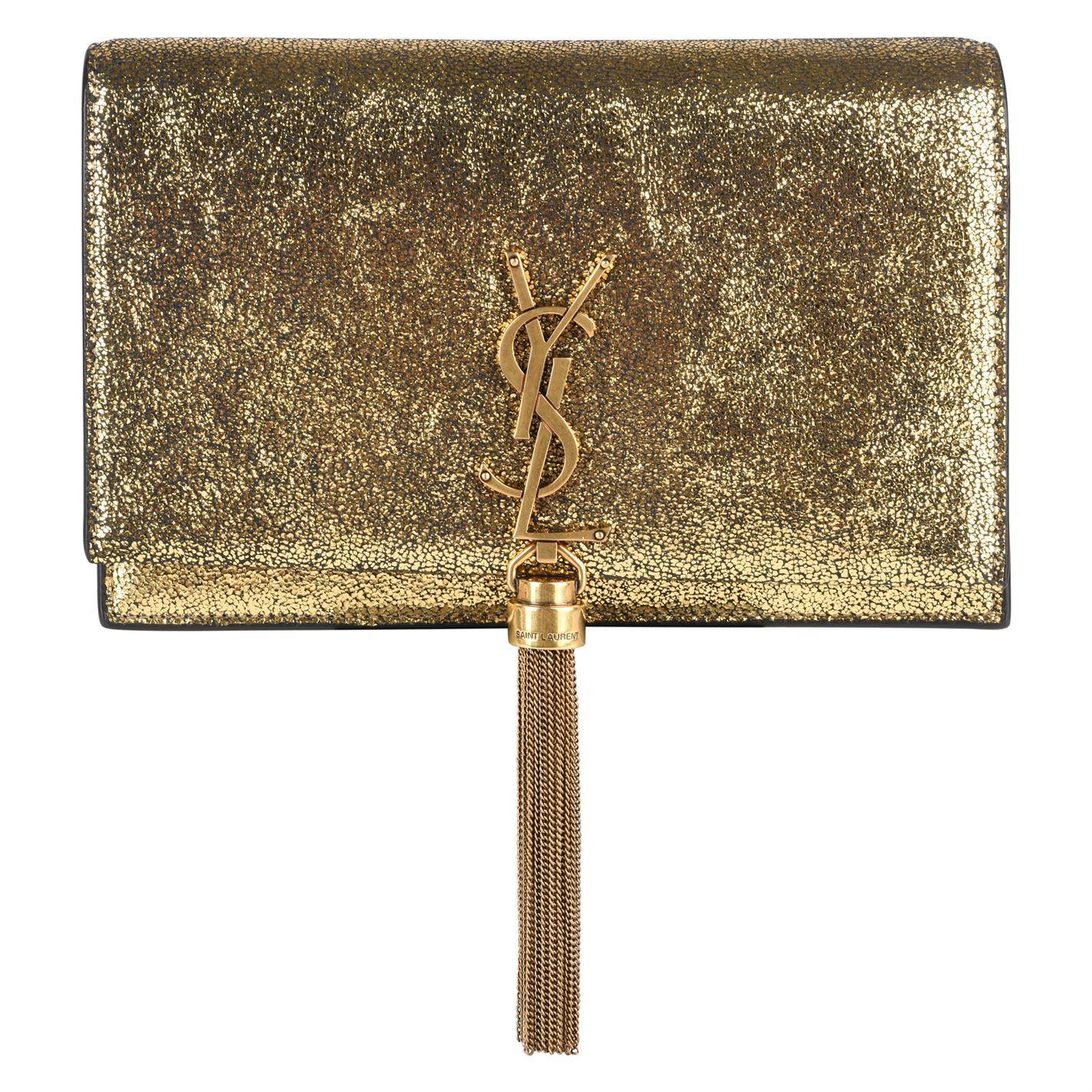 c16a4fe0bc Saint Laurent - Metallic Tassel Chain Shoulder Wallet Bag - Lyst. View  fullscreen