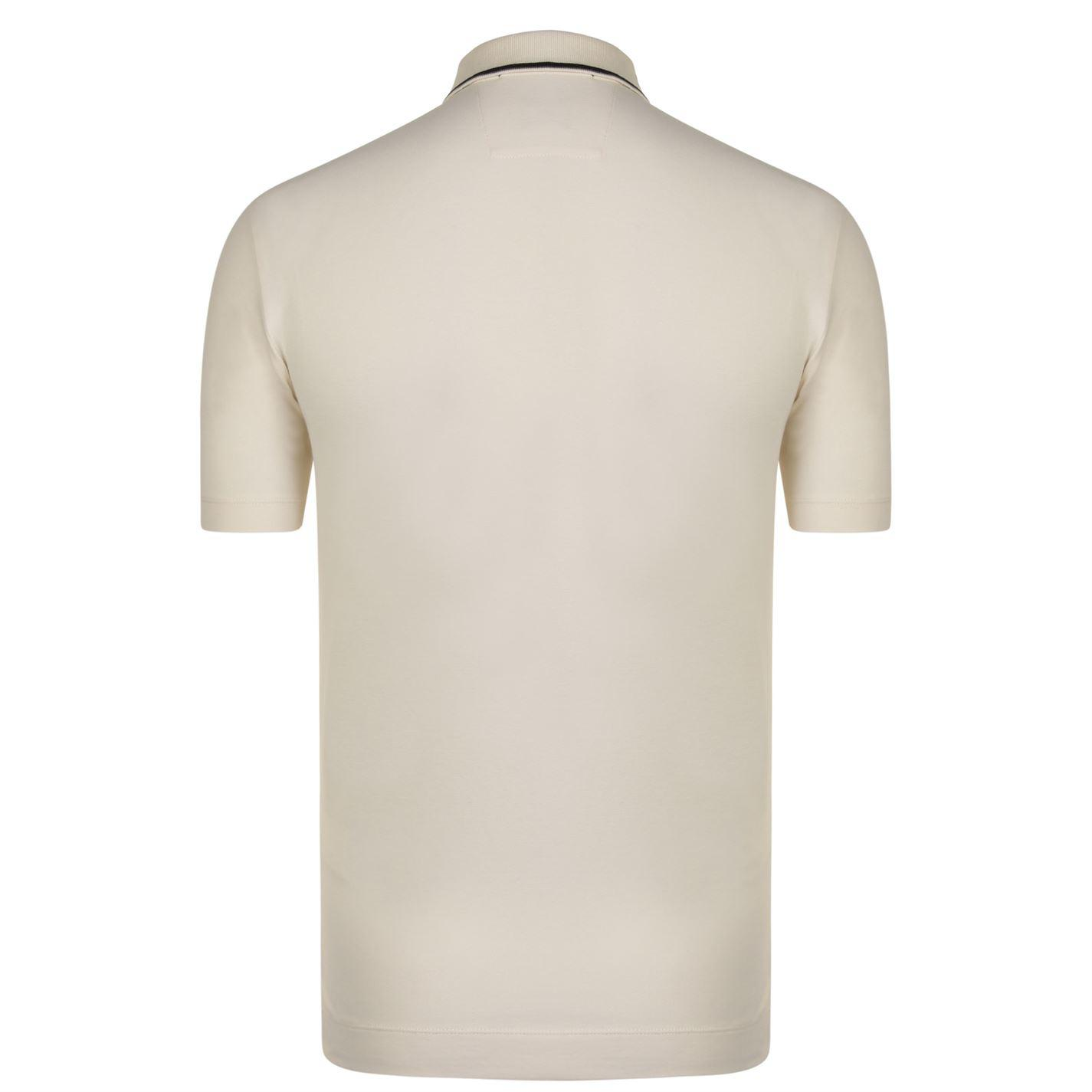 3127c659a Lyst - C P Company Stripe Collar Polo Shirt in White for Men