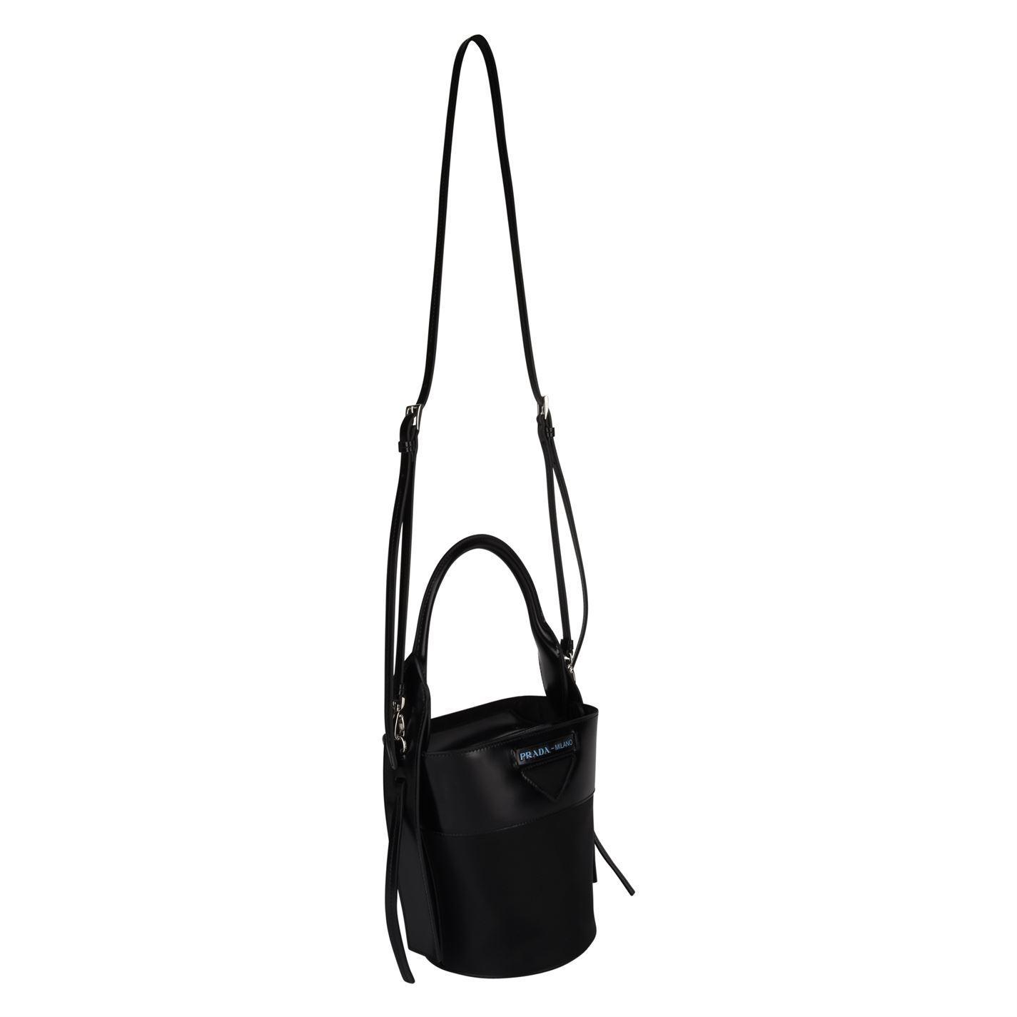 b32870077d Prada Ouverture Nylon Bucket Bag in Black - Lyst