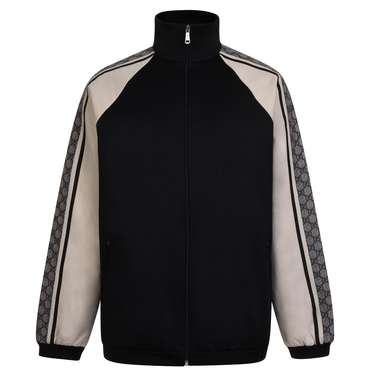 486becab176 Gucci Oversized Technical Jersey Jacket in Black for Men - Save 25 ...