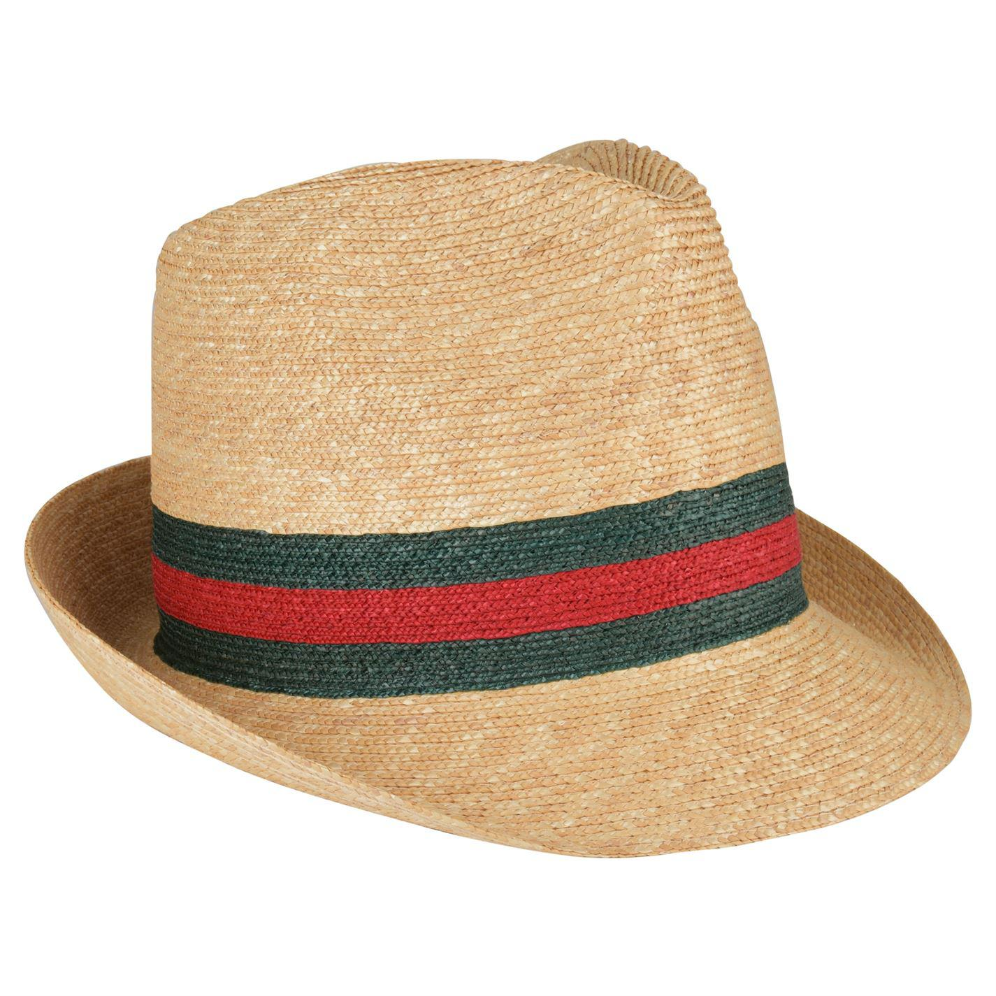 2bb47aa3dc76d Lyst - Gucci Tribly Straw Hat in Natural