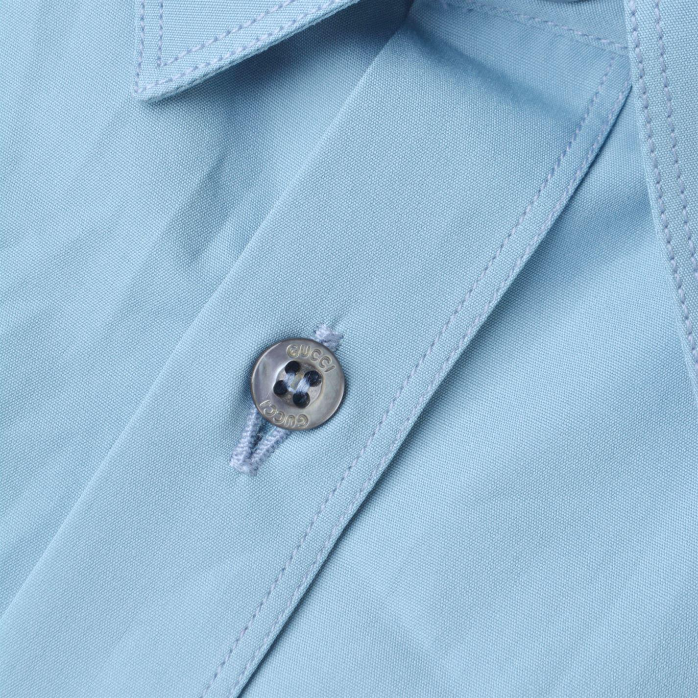 745d2110ee7 Lyst - Gucci Bee Patch Duke Shirt in Blue for Men
