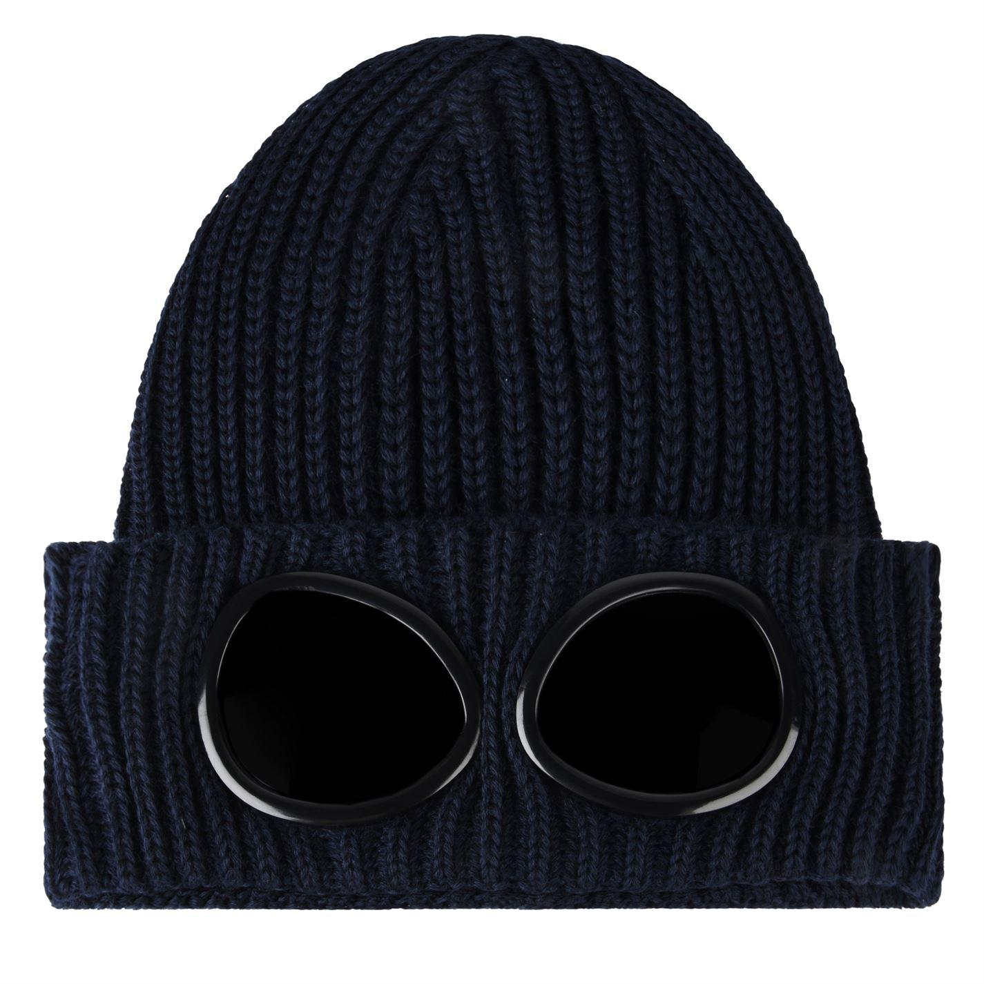 c9dd1691502 C P Company Goggle Knit Hat in Blue for Men - Lyst