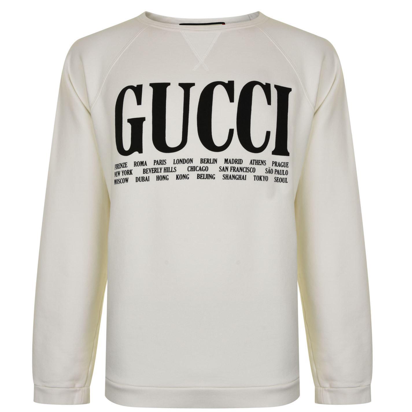 389c125da9a Gucci - Multicolor Cita Crew Sweatshirt for Men - Lyst. View fullscreen