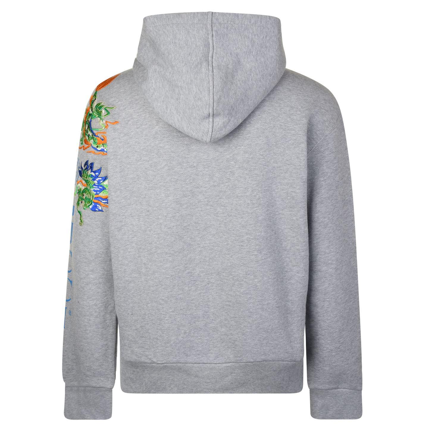 712e953e9e62cf Gucci - Gray Fake Logo Embroidered Hooded Sweatshirt for Men - Lyst. View  fullscreen
