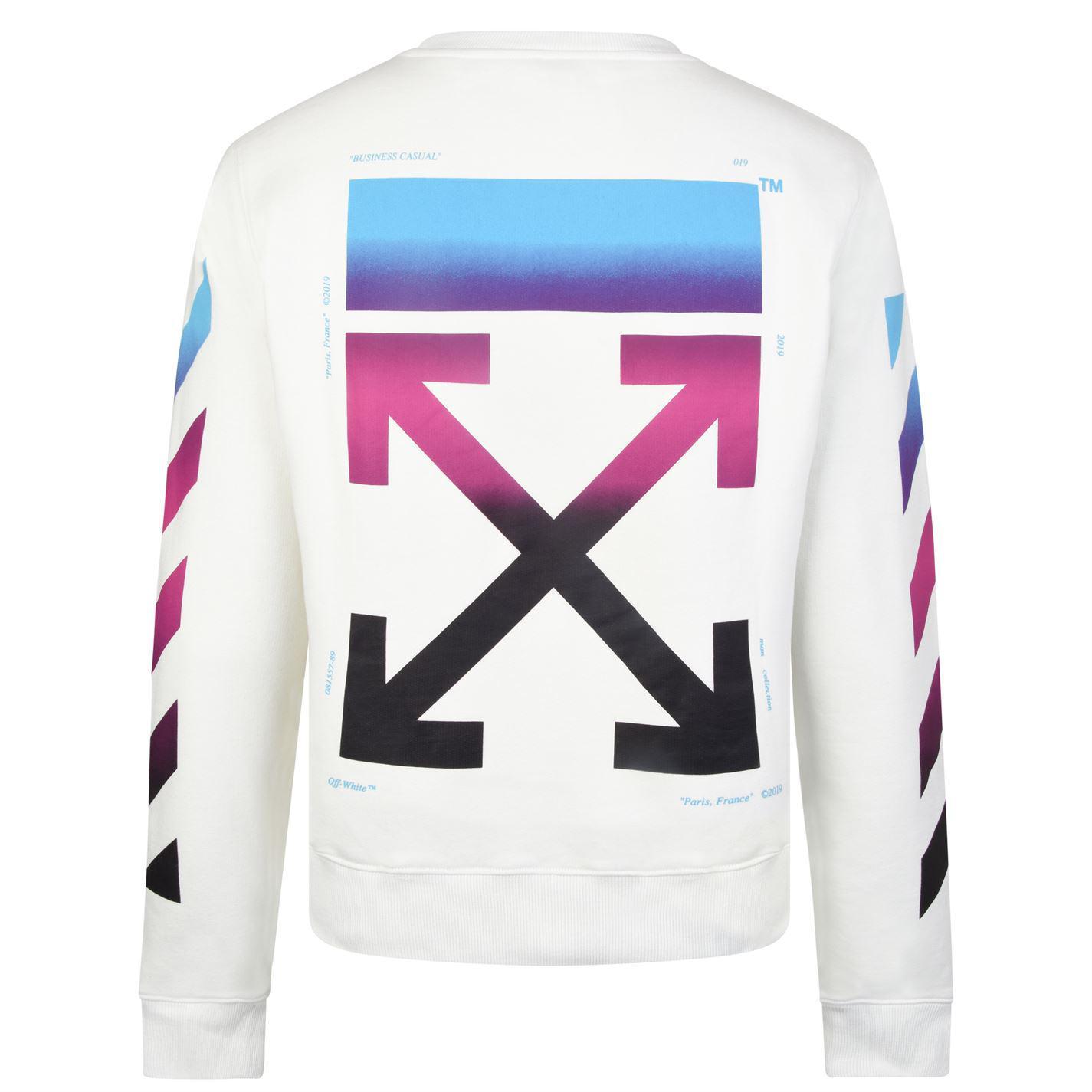 Lyst - Off-White c o Virgil Abloh Gradient Diagonal Sweatshirt for Men 8390d3ed8