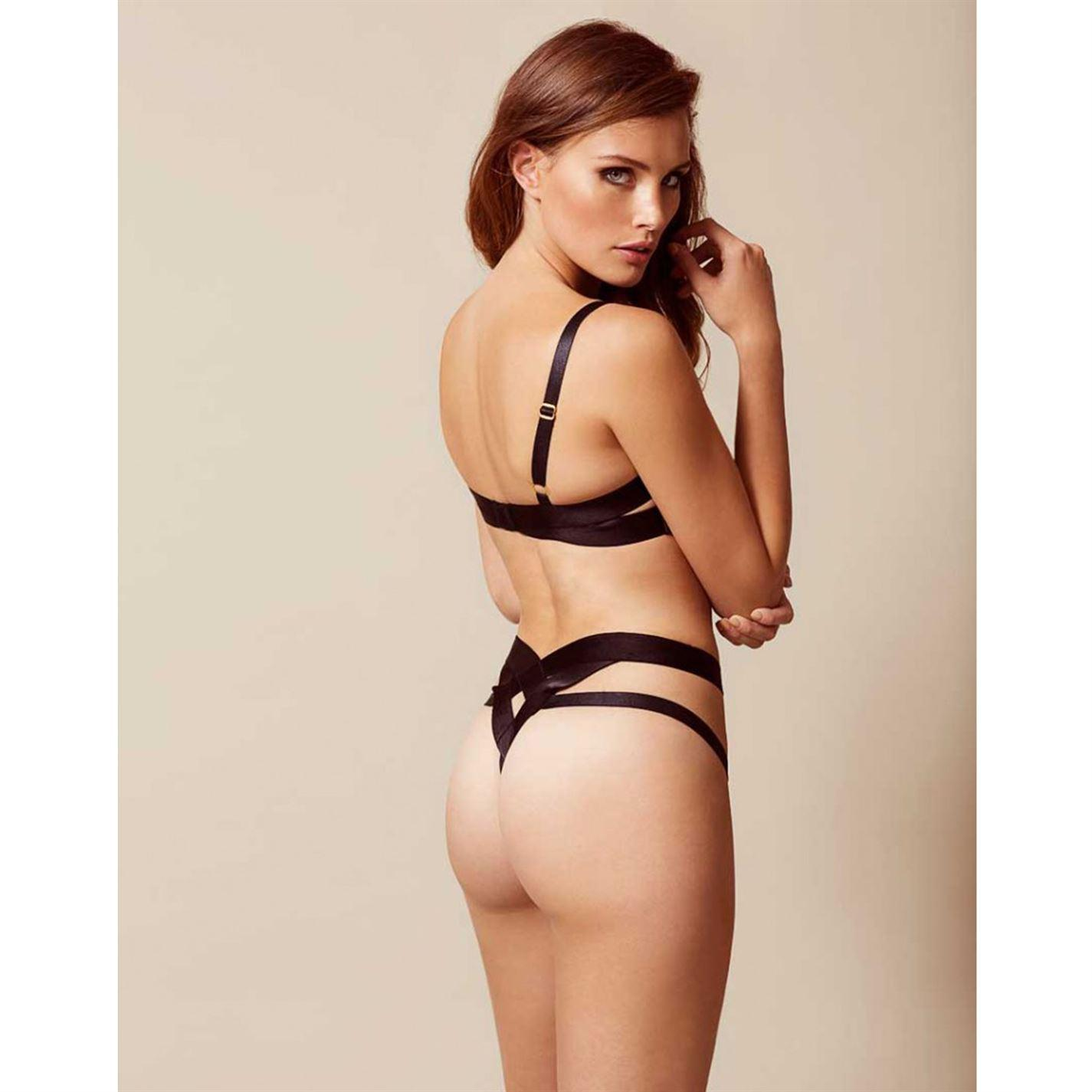 fa9a3000e6589 Lyst - Agent Provocateur Whitney Thong in Black