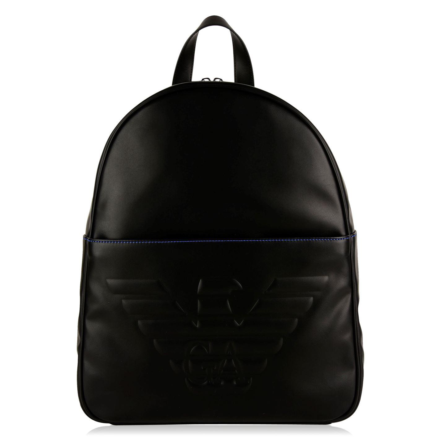 Emporio Armani Debossed Eagle Backpack in Black for Men - Lyst 9ca293668a
