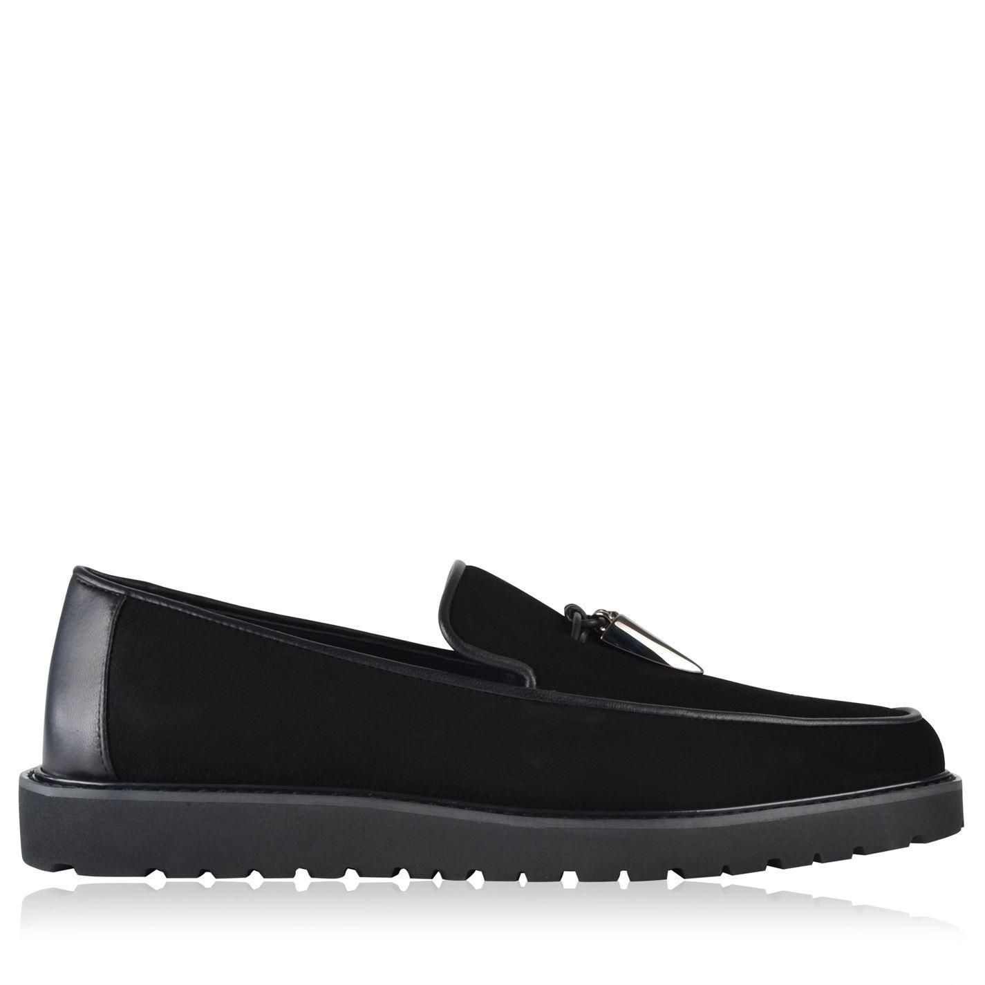 Flat shoes suede suede Fringe Logo Strass black gold Giuseppe Zanotti Hot X9K17V4D