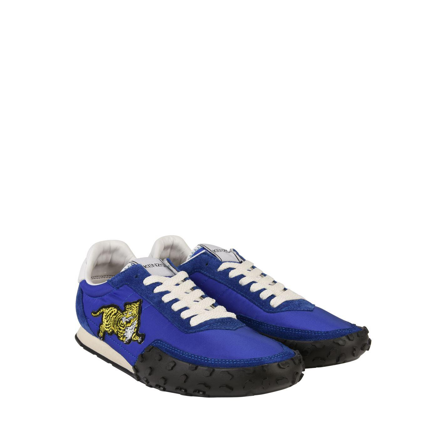 66c6b28248ec Lyst - KENZO Move Tiger Trainers in Blue for Men