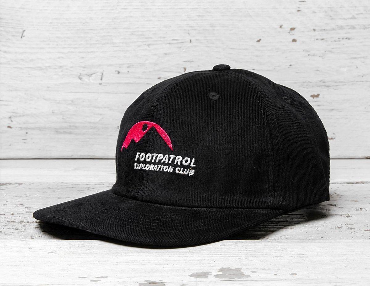 90d00f26dbc Footpatrol X Theobalds  Exploration Club Souvenir Cap in Black for ...