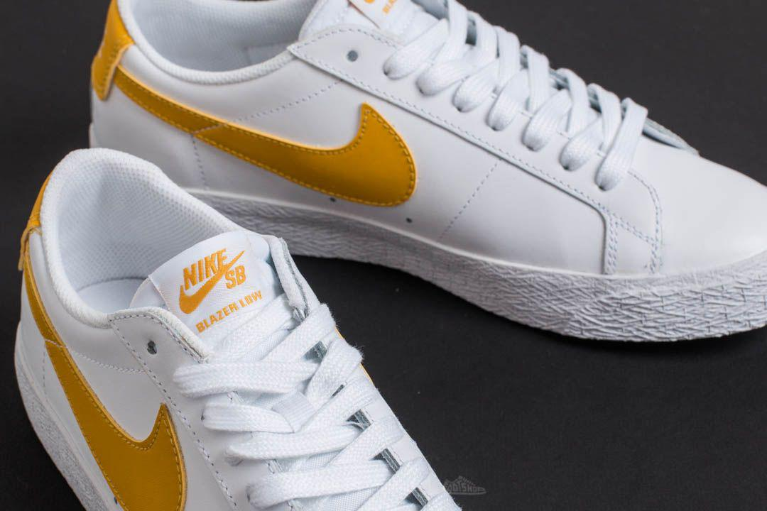 f4a570a492c8 Lyst - Nike Sb Zoom Blazer Low White  Mineral Gold in White for Men