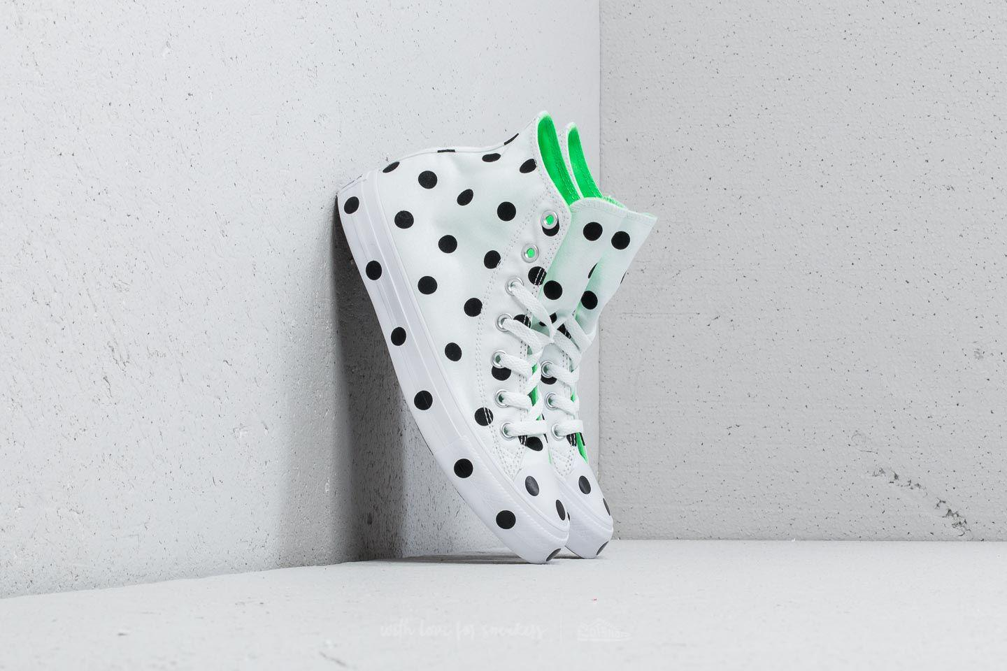 Converse CHUCK TAYLOR ALL STAR - High-top trainers - white/black/illusion green