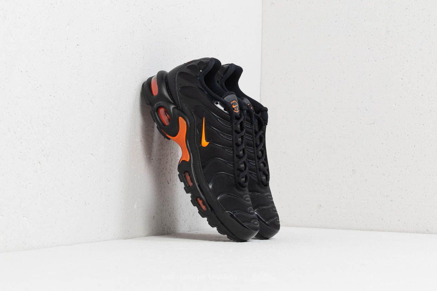 Lyst - Nike Air Max Plus Tn Se Black  Total Orange in Black for Men 9bde1a556