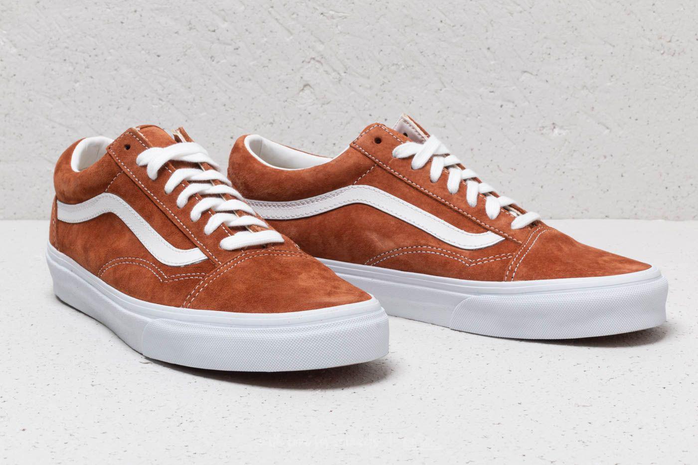 fc0ac36b5f3bb7 Lyst - Vans Old Skool (pig Suede) Leather Brown in Brown for Men